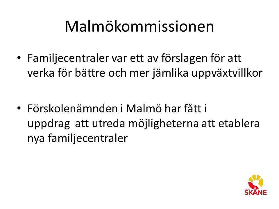 Malmökommissionen Familjecentraler var ett av förslagen för att verka för bättre och mer jämlika uppväxtvillkor.