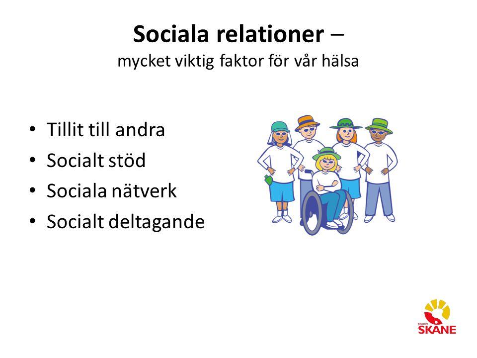 Sociala relationer – mycket viktig faktor för vår hälsa