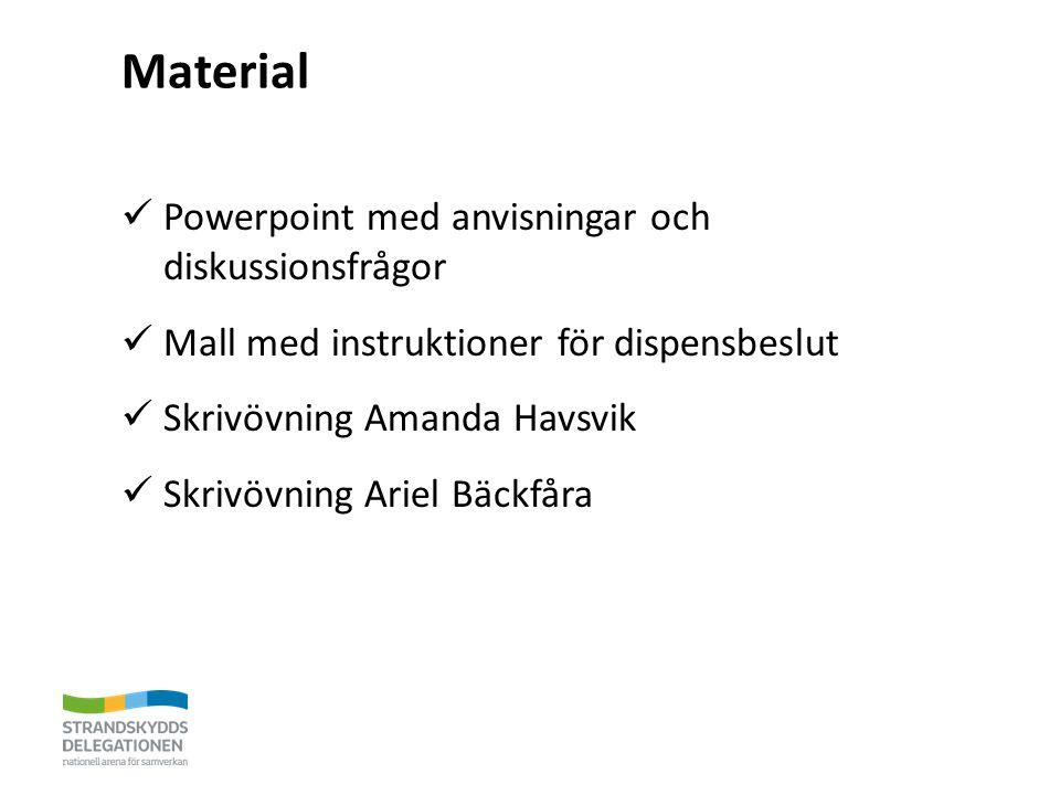 Material Powerpoint med anvisningar och diskussionsfrågor