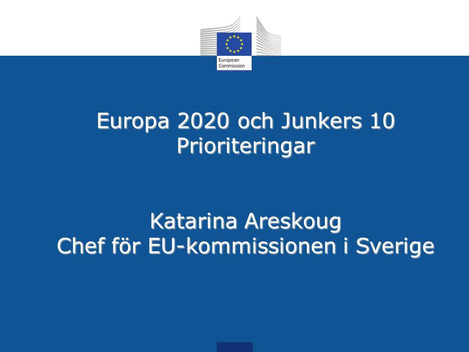 Europa 2020 och Junkers 10 Prioriteringar