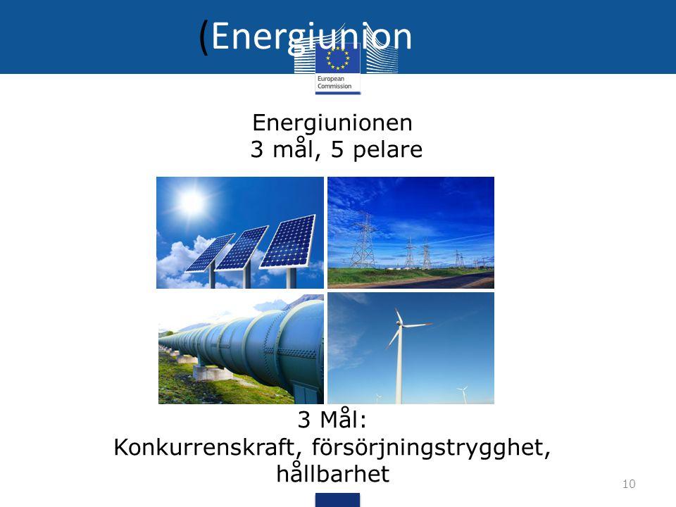 Konkurrenskraft, försörjningstrygghet, hållbarhet