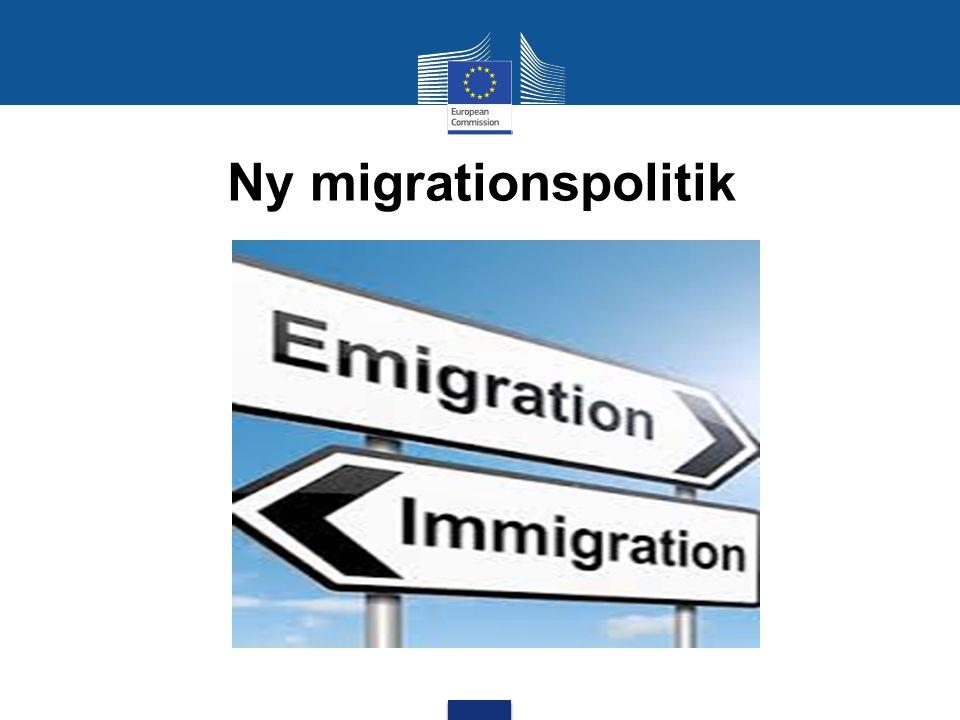Ny migrationspolitik Mot en ny migrationspolitik