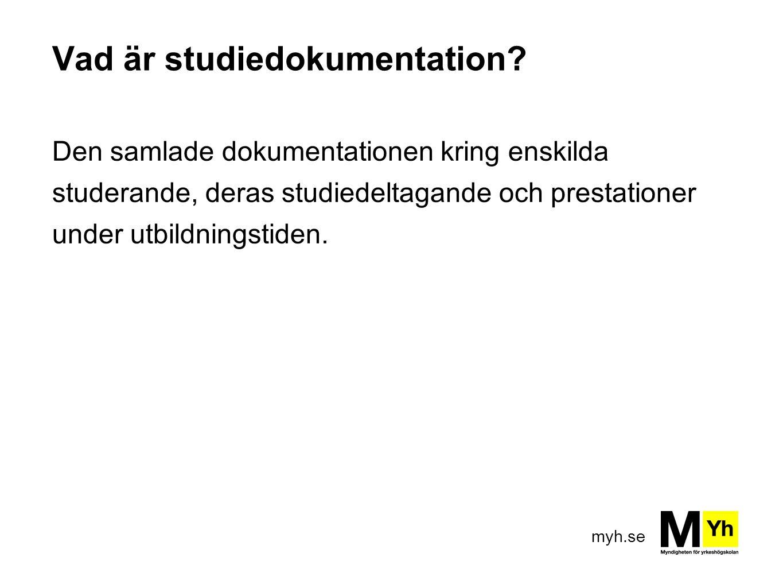 Vad är studiedokumentation