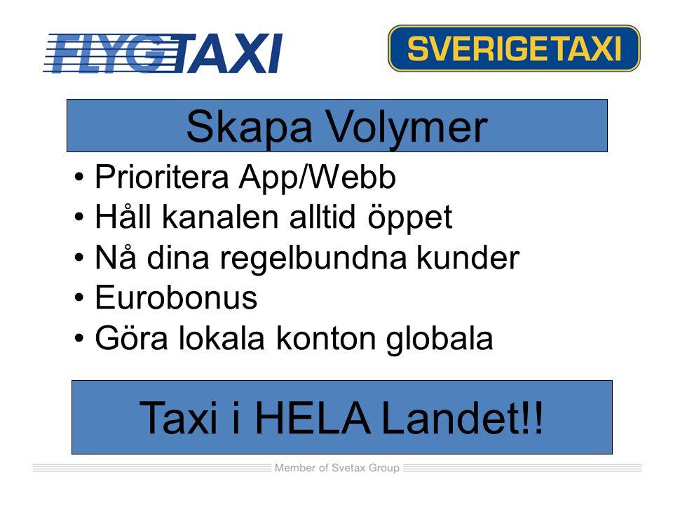 Skapa Volymer Taxi i HELA Landet!! Prioritera App/Webb