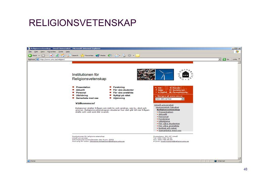 RELIGIONSVETENSKAP