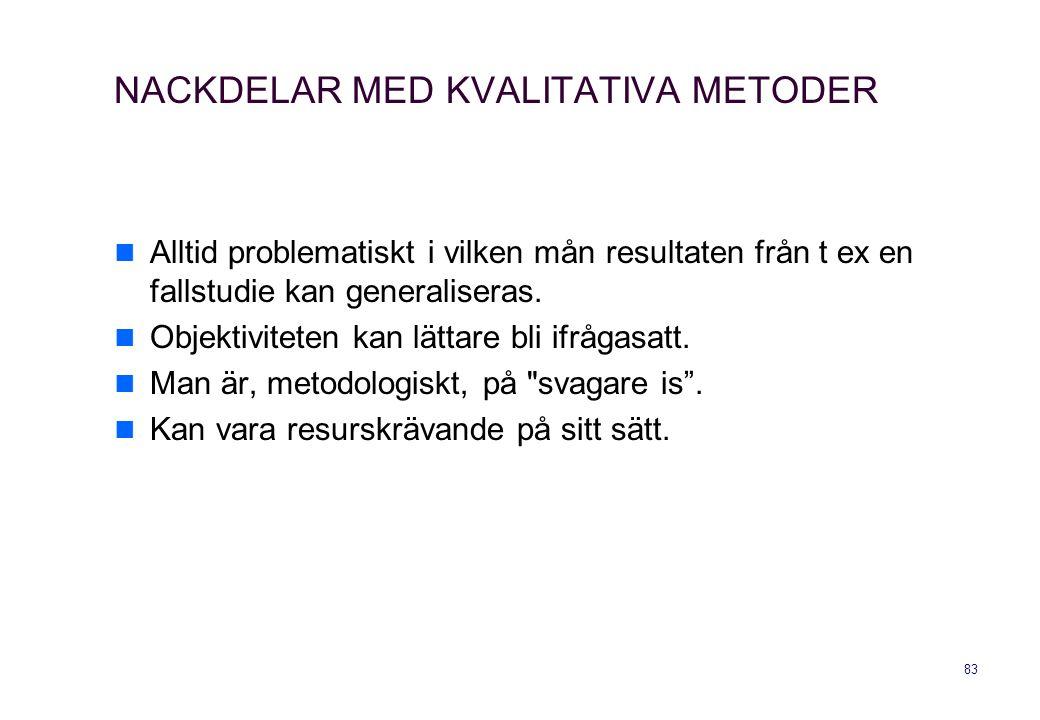 NACKDELAR MED KVALITATIVA METODER