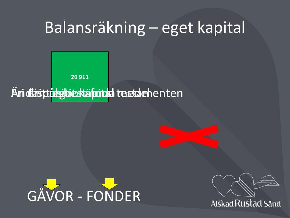 Balansräkning – eget kapital