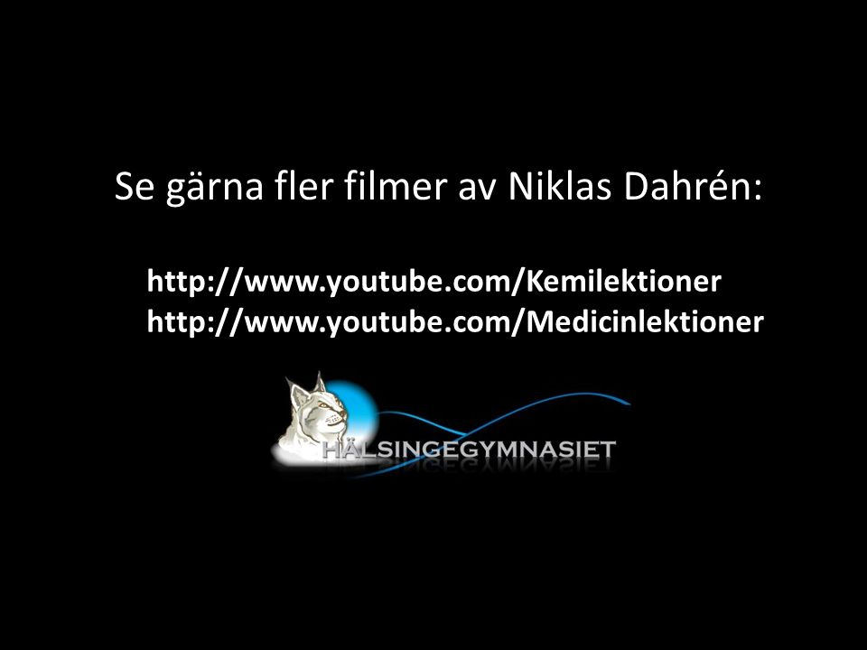 Se gärna fler filmer av Niklas Dahrén: