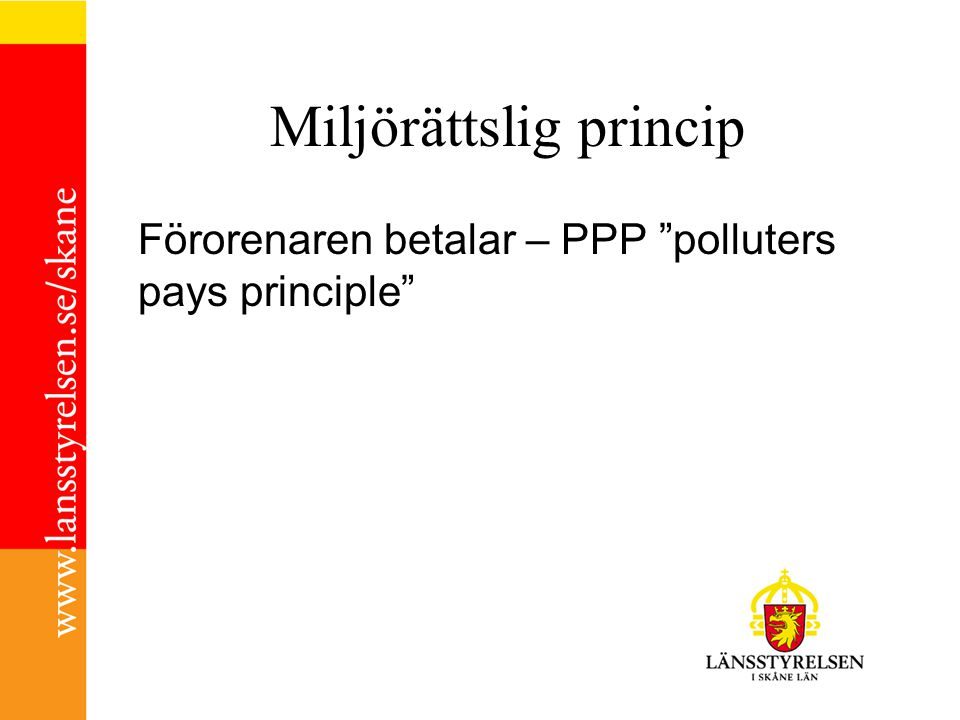 Miljörättslig princip