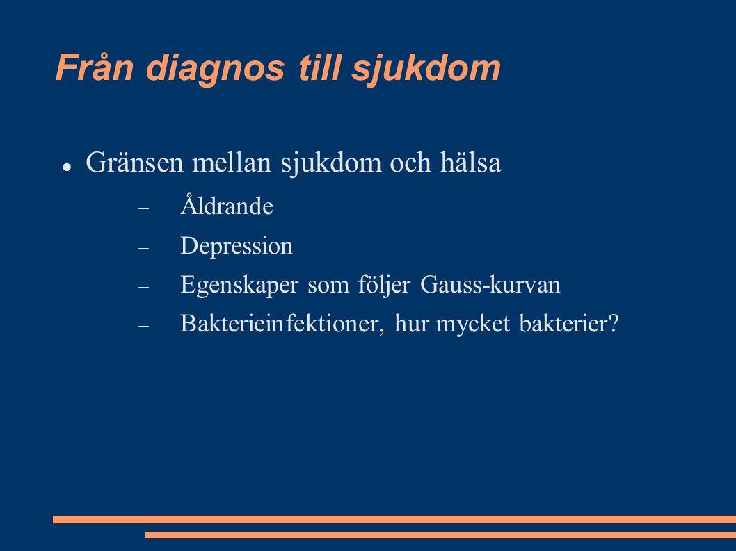 Från diagnos till sjukdom