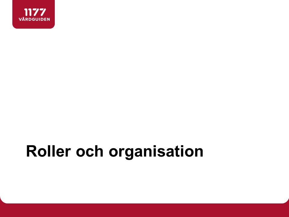 Roller och organisation
