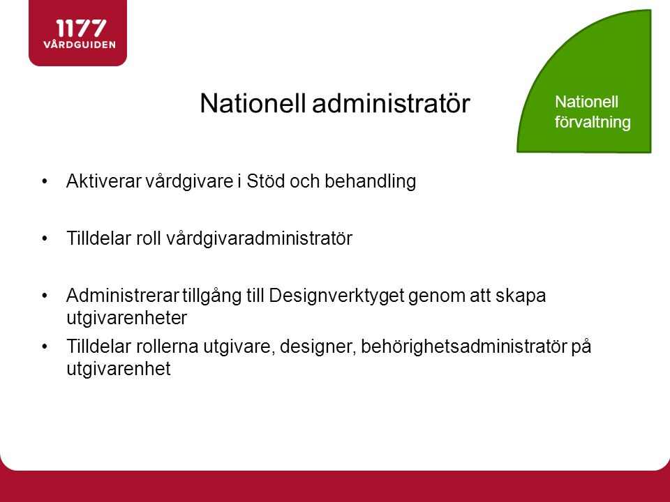 Nationell administratör