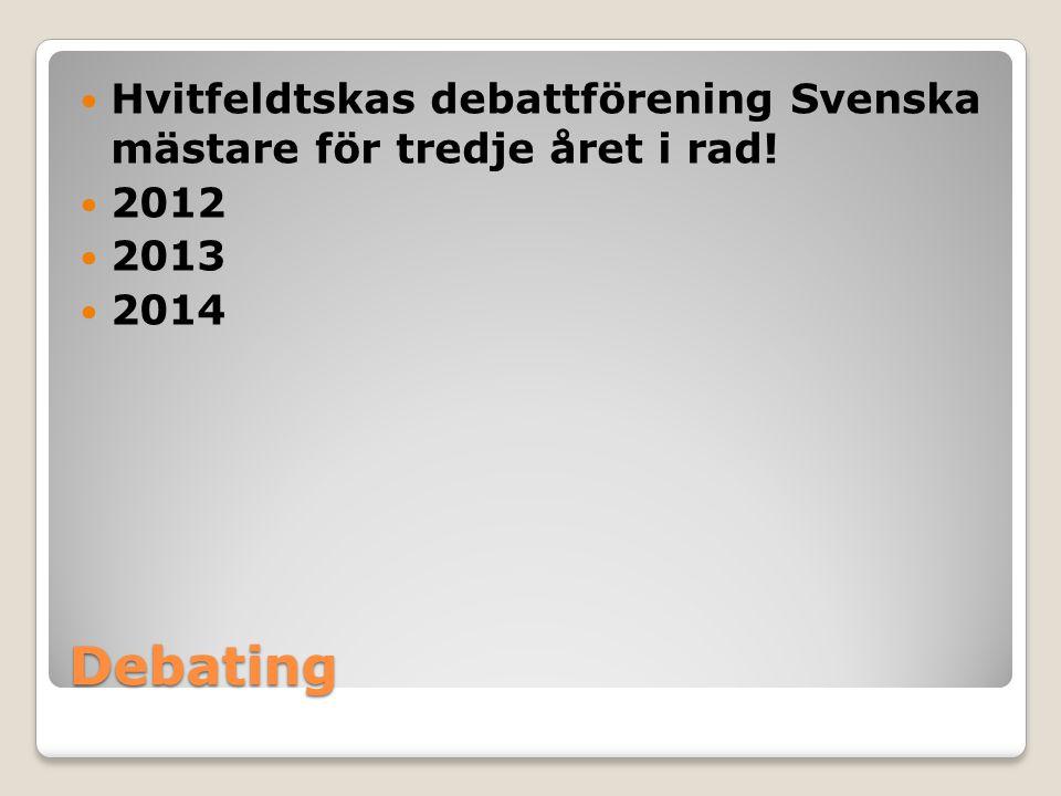 Hvitfeldtskas debattförening Svenska mästare för tredje året i rad!
