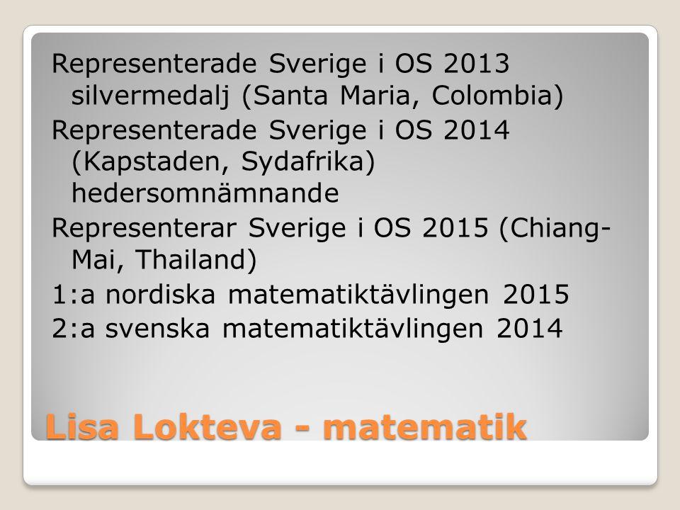 Lisa Lokteva - matematik