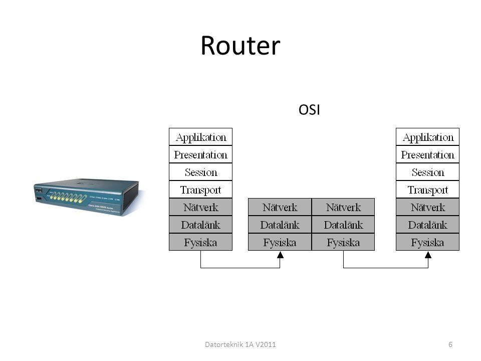 Router OSI Datorteknik 1A V2011
