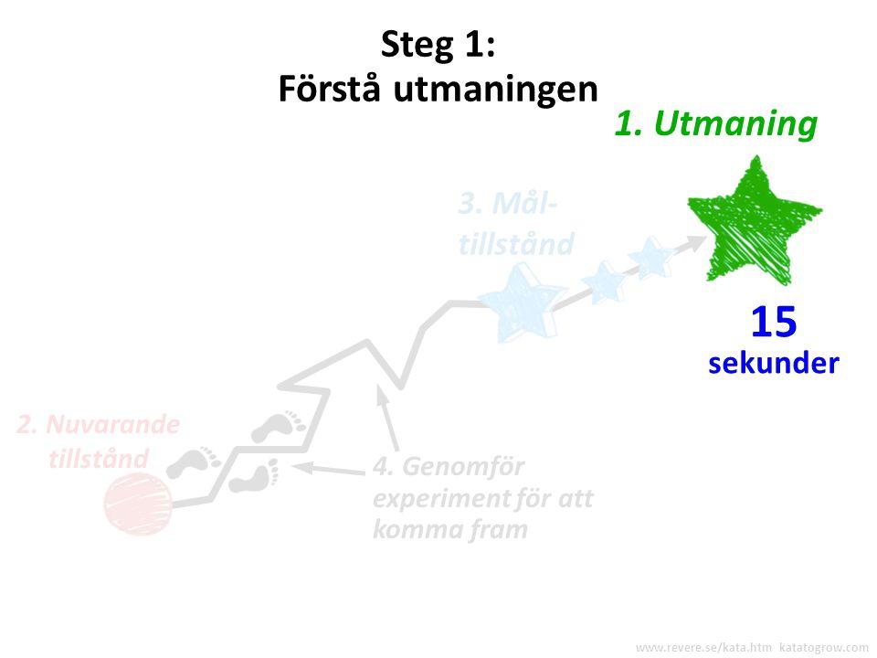 15 Steg 1: Förstå utmaningen 1. Utmaning 3. Mål- tillstånd sekunder