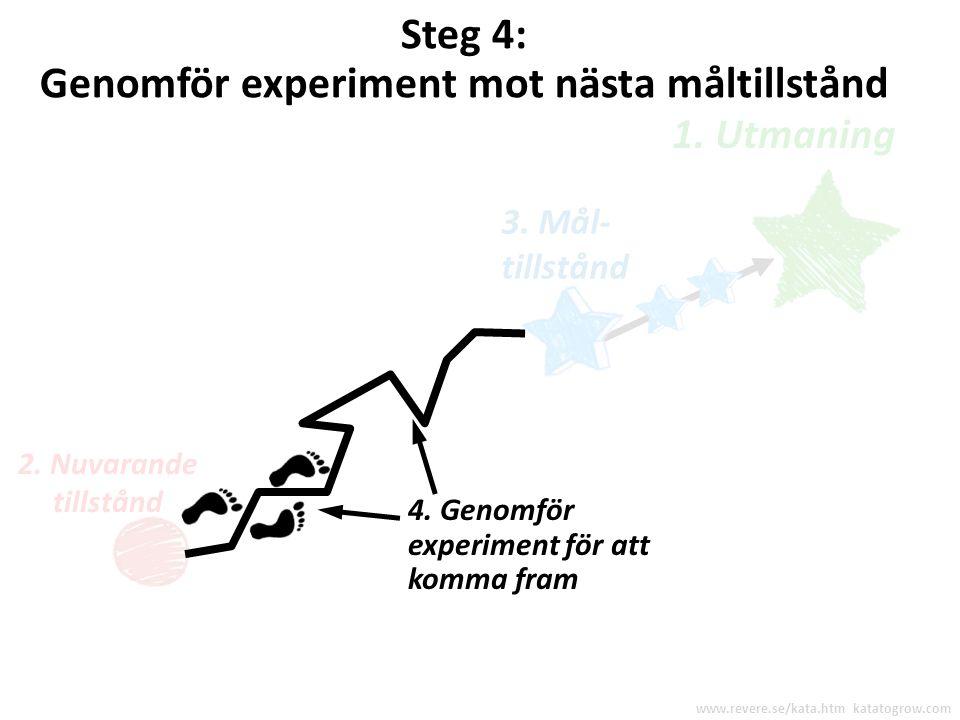 Genomför experiment mot nästa måltillstånd
