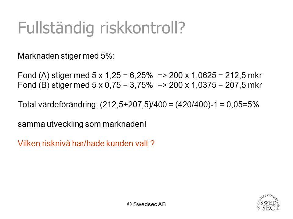Fullständig riskkontroll