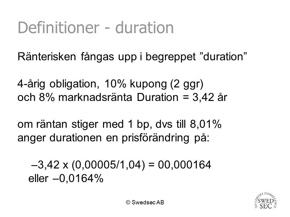 Definitioner - duration