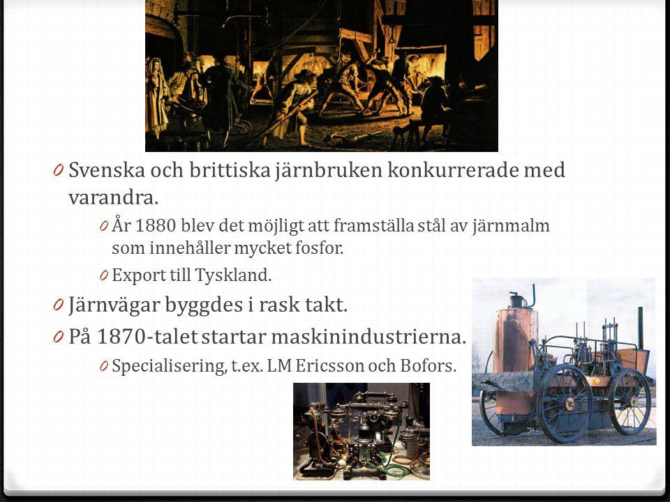 Svenska och brittiska järnbruken konkurrerade med varandra.
