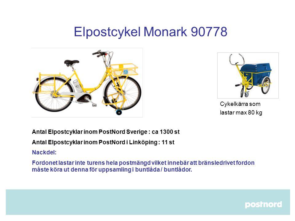 Elpostcykel Monark 90778 Cykelkärra som lastar max 80 kg