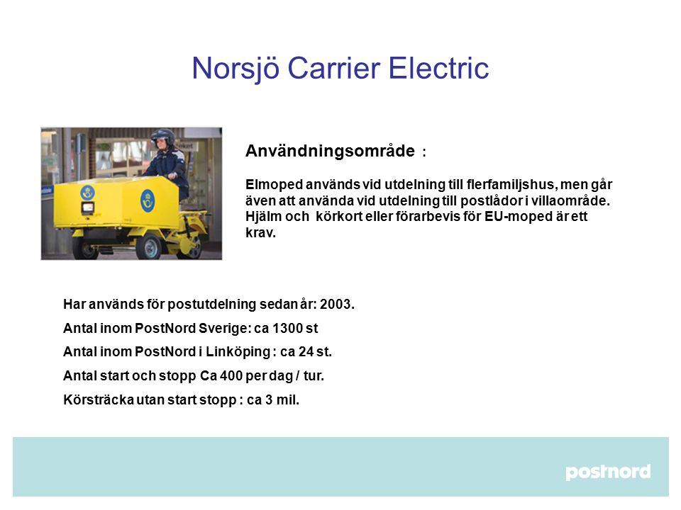 Norsjö Carrier Electric​
