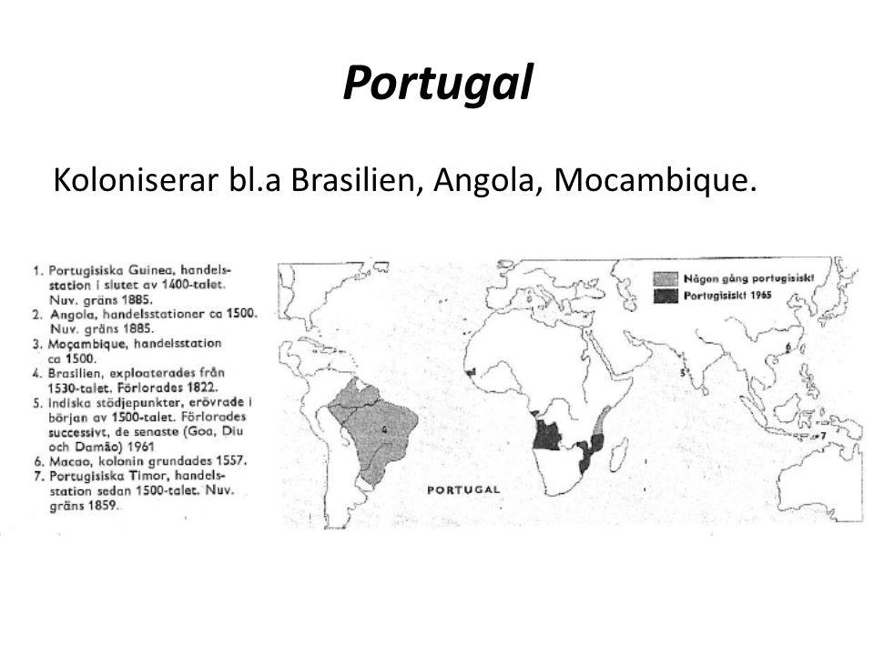 Portugal Koloniserar bl.a Brasilien, Angola, Mocambique.