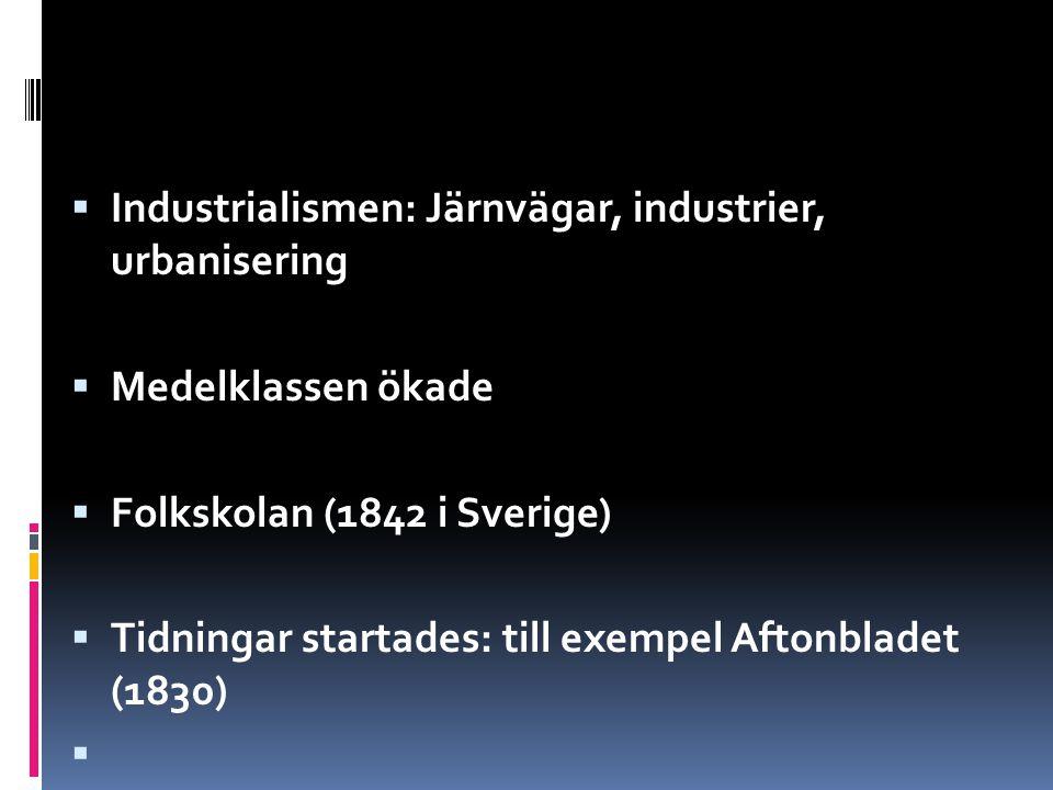Industrialismen: Järnvägar, industrier, urbanisering