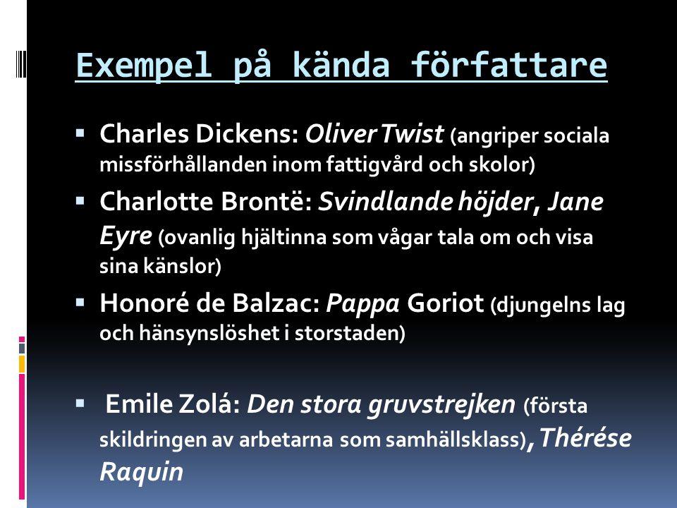 Exempel på kända författare