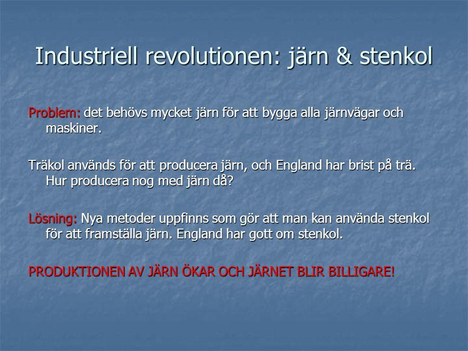 Industriell revolutionen: järn & stenkol