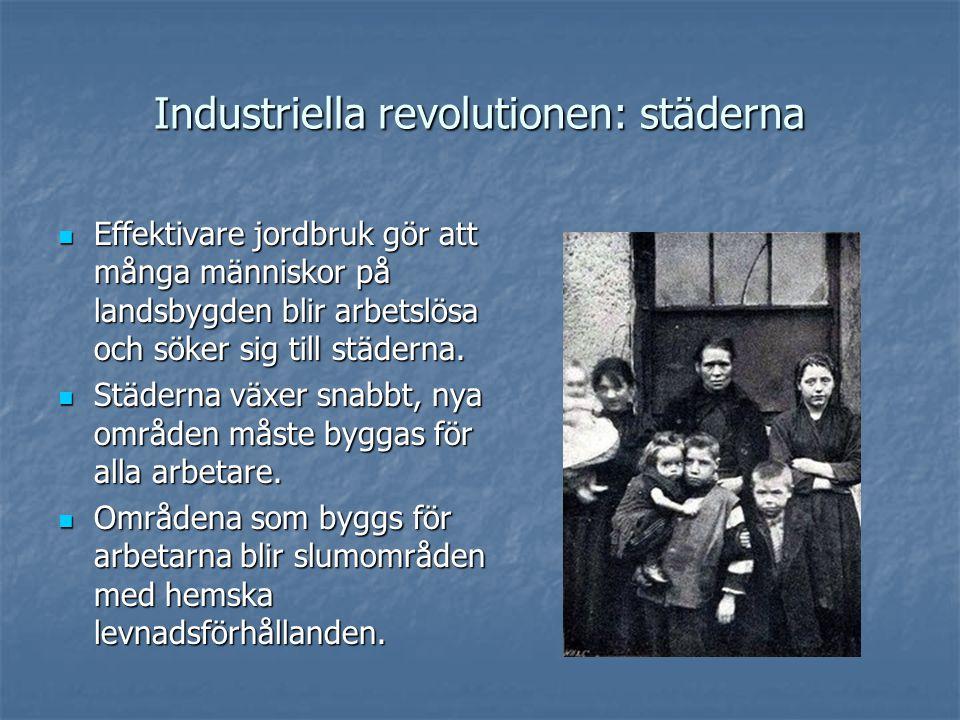 Industriella revolutionen: städerna