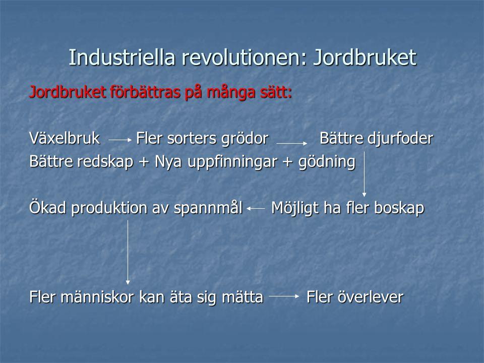 Industriella revolutionen: Jordbruket