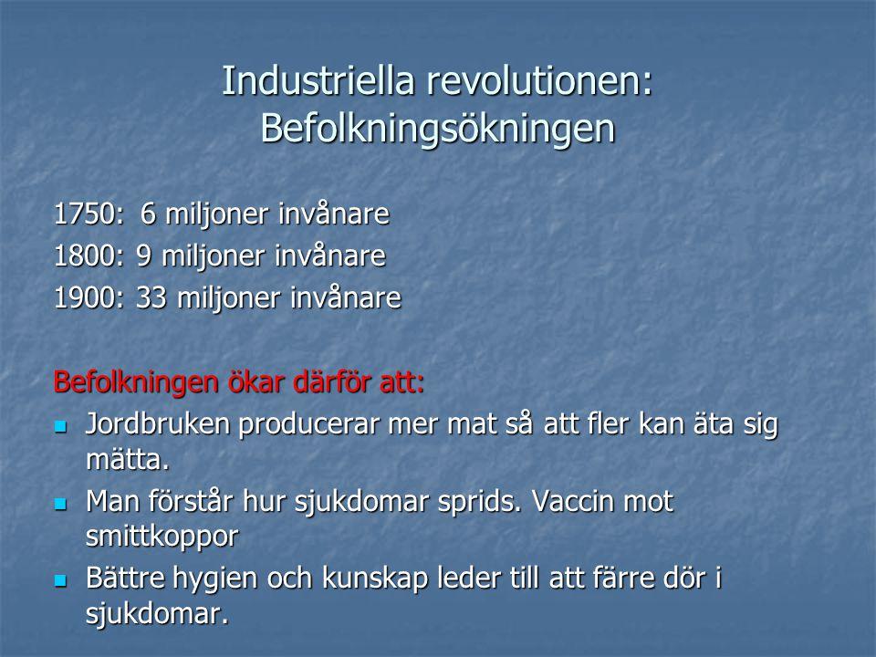 Industriella revolutionen: Befolkningsökningen