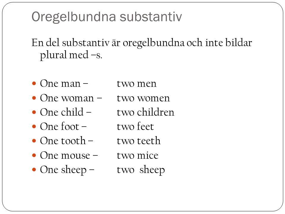 Oregelbundna substantiv