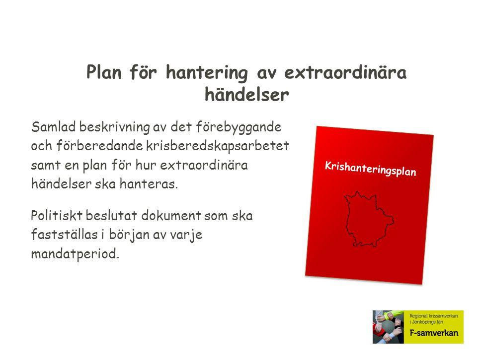 Plan för hantering av extraordinära händelser