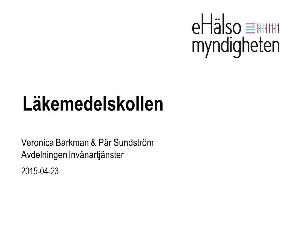 Veronica Barkman & Pär Sundström Avdelningen Invånartjänster