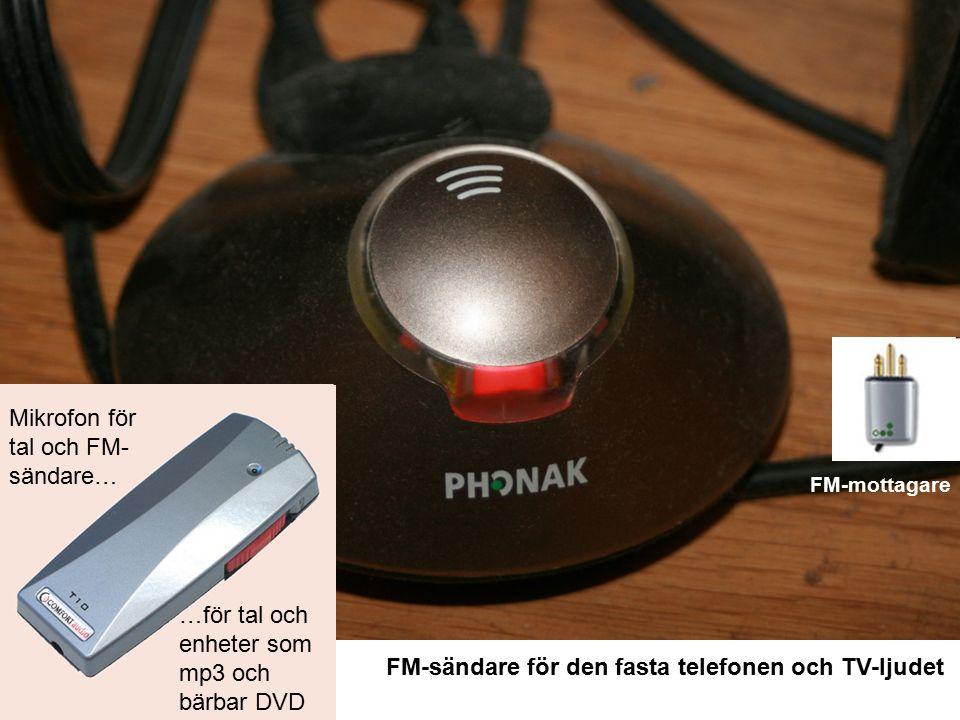 FM-sändare för den fasta telefonen och TV-ljudet