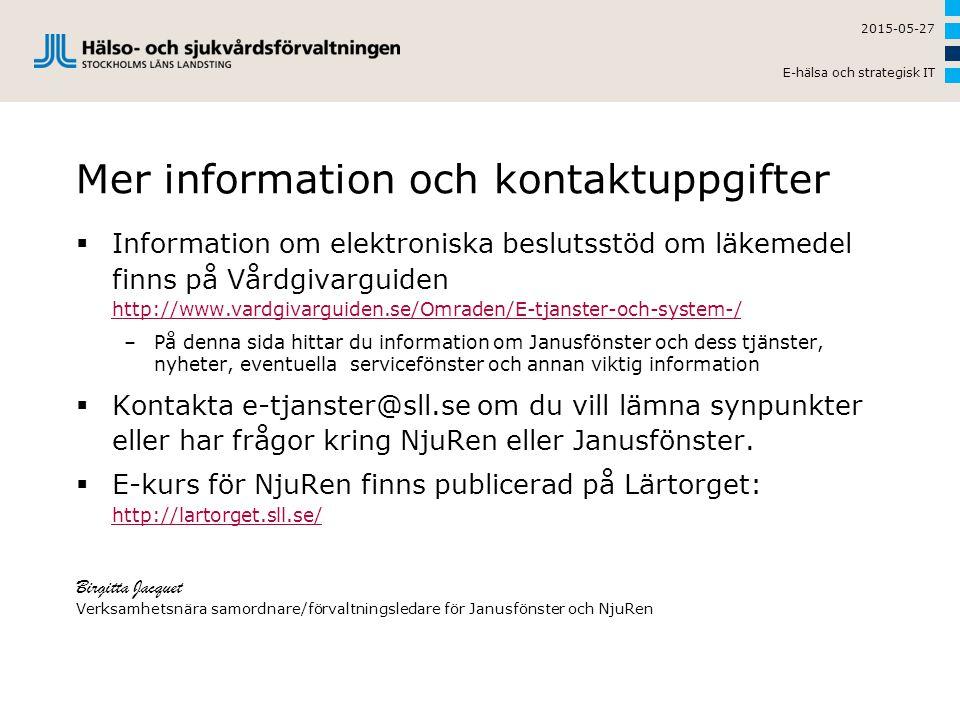Mer information och kontaktuppgifter