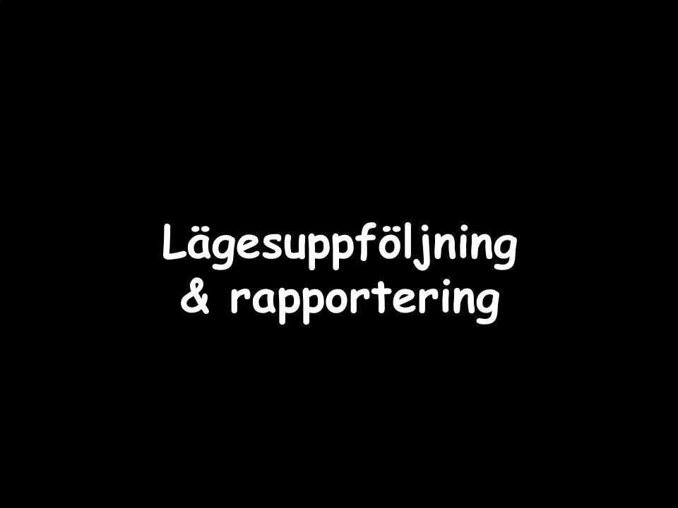 Lägesuppföljning & rapportering