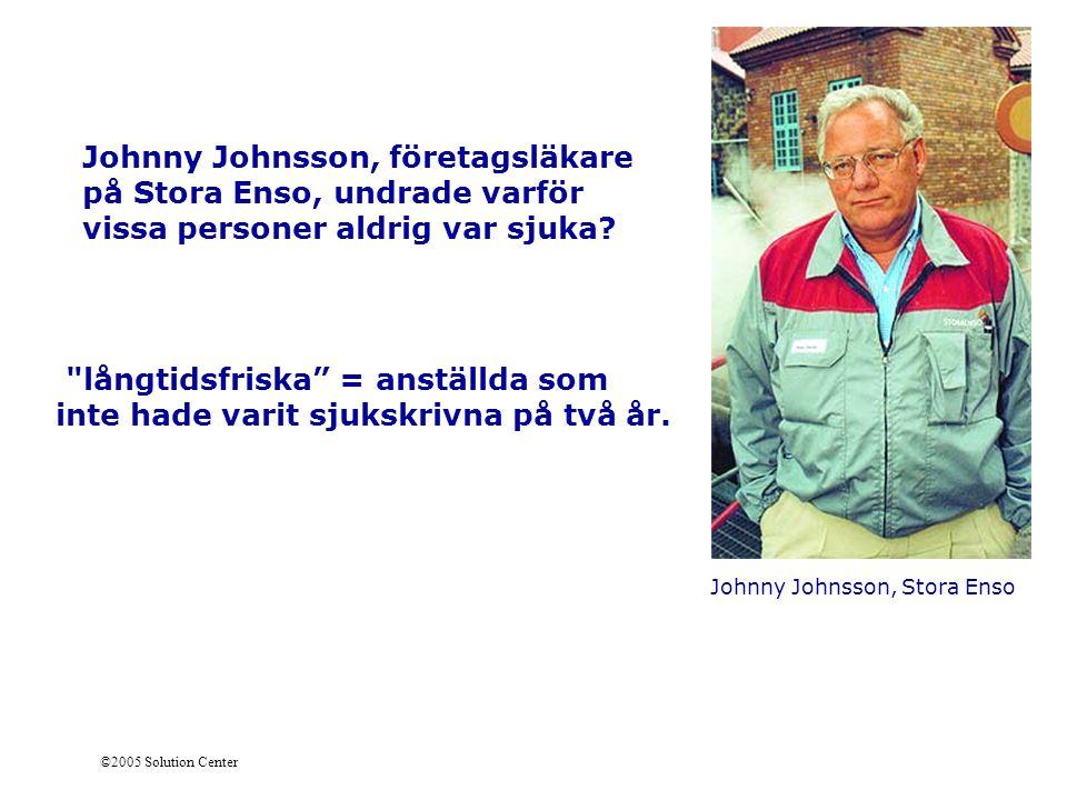 Johnny Johnsson, företagsläkare på Stora Enso, undrade varför vissa personer aldrig var sjuka