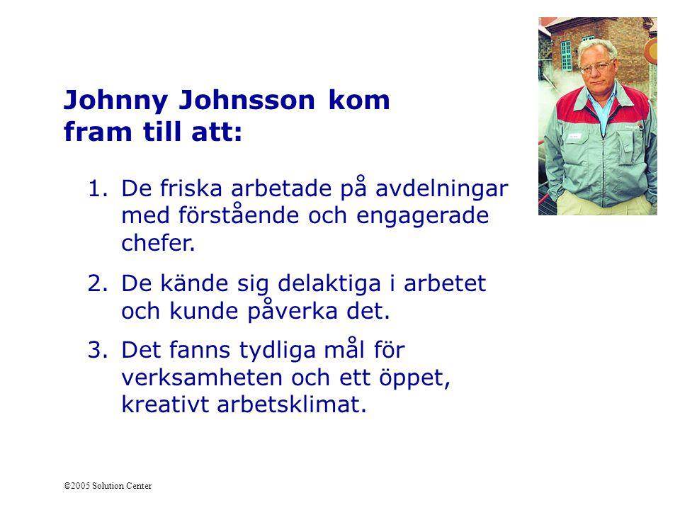 Johnny Johnsson kom fram till att: