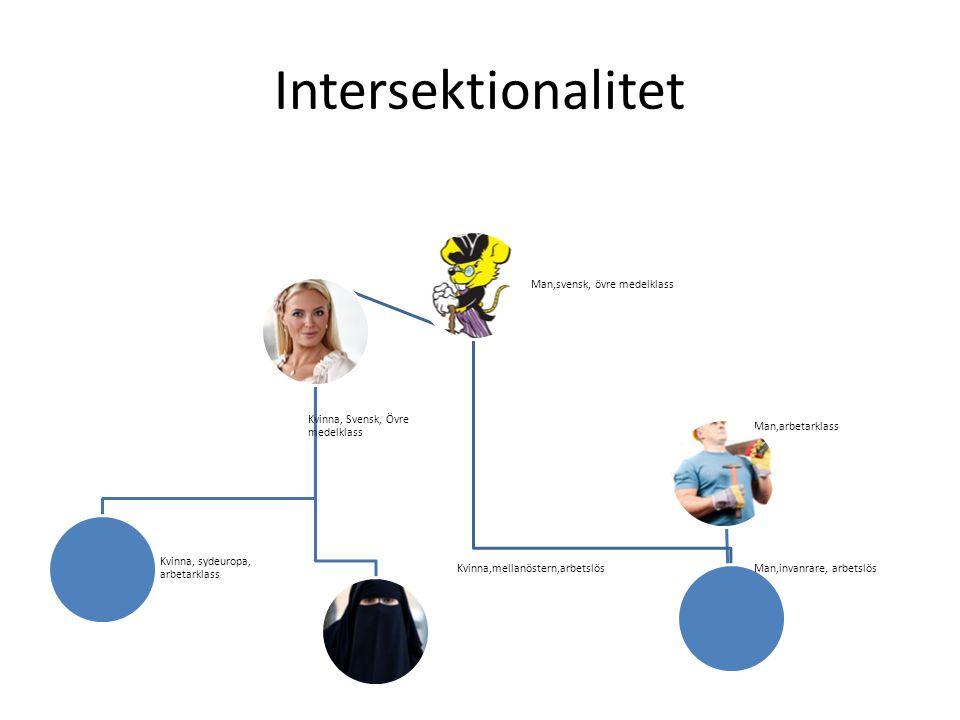 Intersektionalitet Man,svensk, övre medelklass