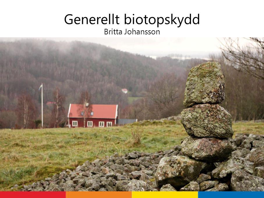 Generellt biotopskydd Britta Johansson