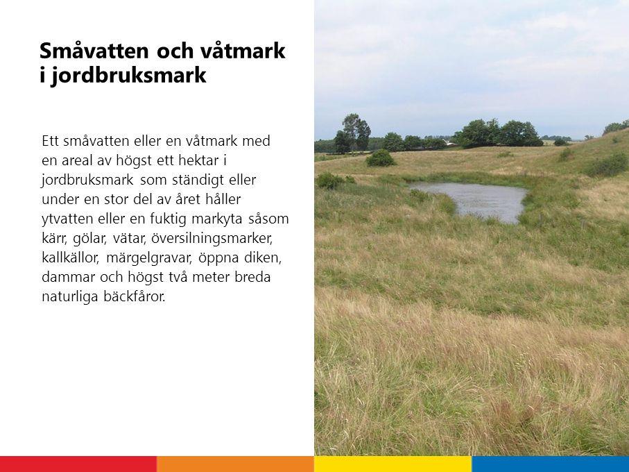Småvatten och våtmark i jordbruksmark