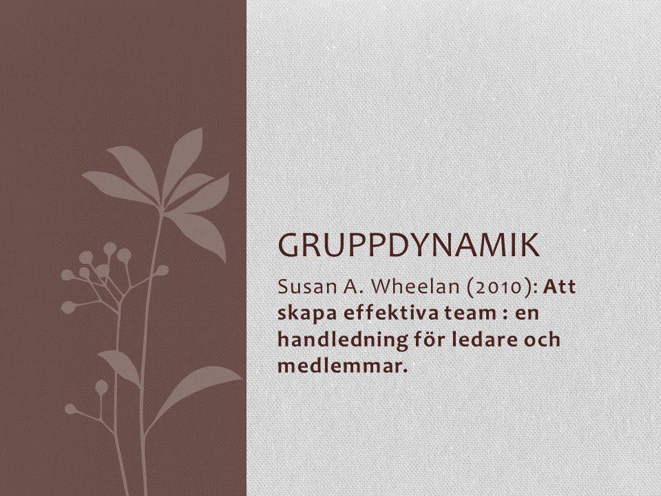 Gruppdynamik Susan A.