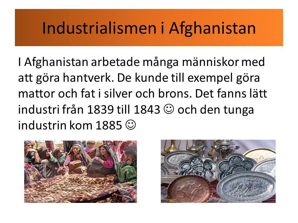 Industrialismen i Afghanistan