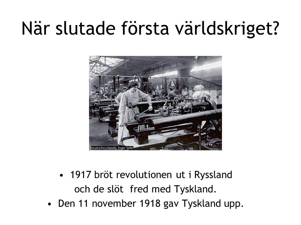 När slutade första världskriget