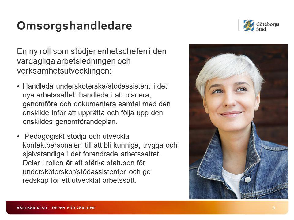 Omsorgshandledare En ny roll som stödjer enhetschefen i den vardagliga arbetsledningen och verksamhetsutvecklingen: