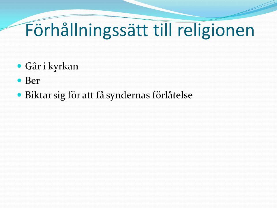 Förhållningssätt till religionen