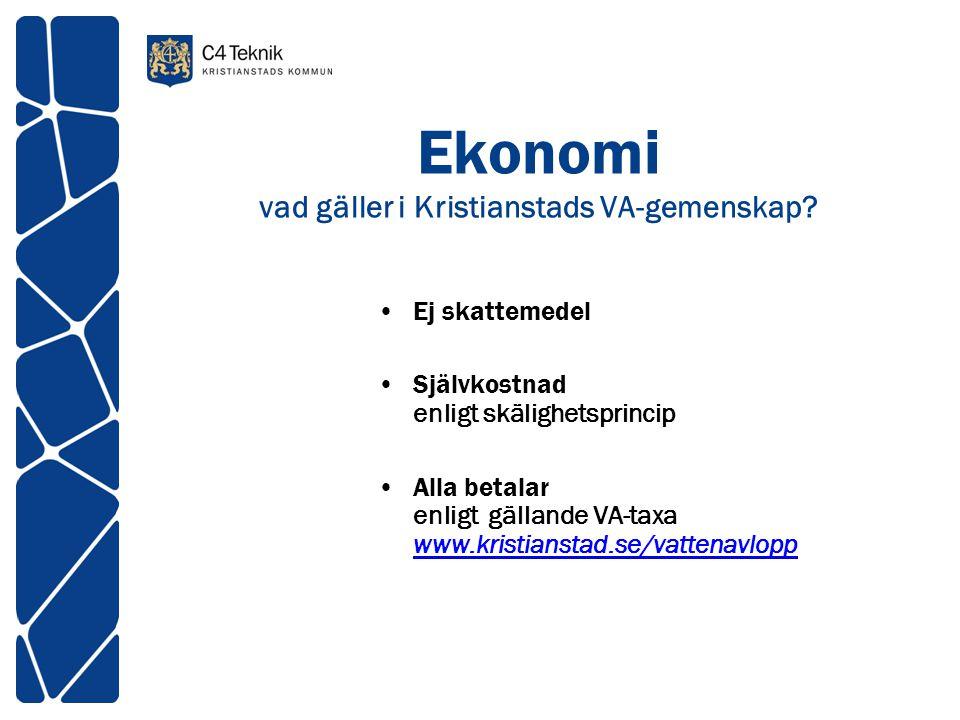 Ekonomi vad gäller i Kristianstads VA-gemenskap